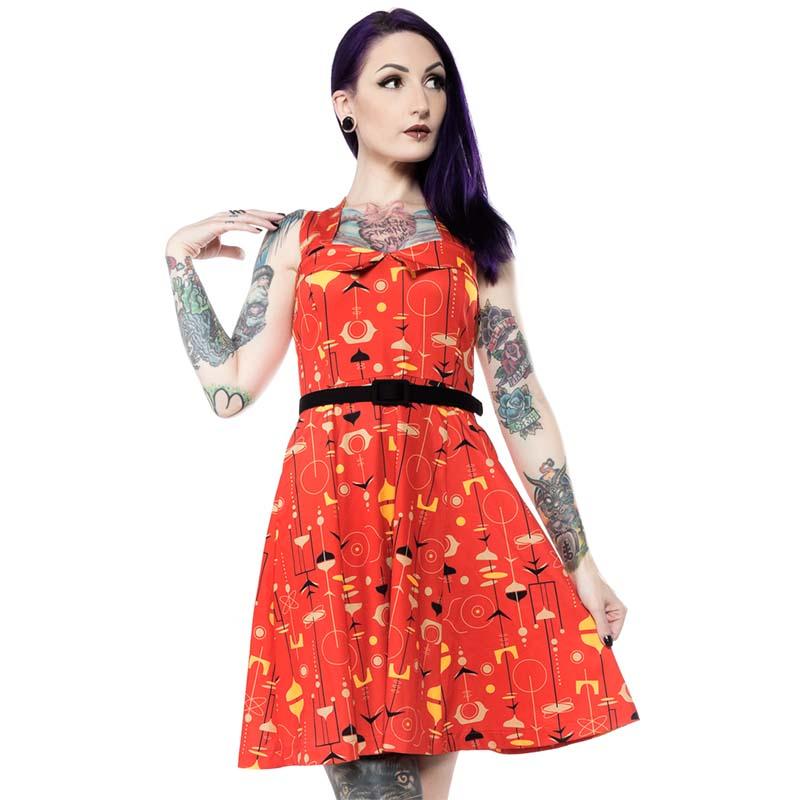 Veronica Midcentury Swing Dress by Sourpuss - SALE- sz M only