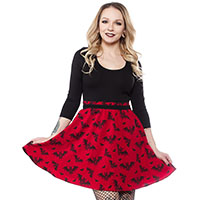 Batt Attack Scoop Dress by Sourpuss - sz 2X & 3X only
