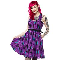Haunted Diamond Veronica Dress by Sourpuss - in purple - SALE sz 3X only