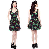 Creature Cami Skater Dress by Sourpuss