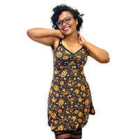 Classic Halloween Print Slip Dress by Sourpuss