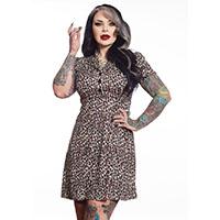 Leopard Rosie Dress by Sourpuss