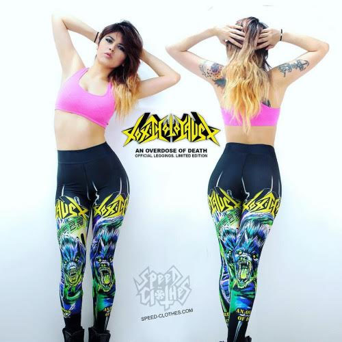 Toxic Holocaust Leggings by Speed Clothes - sz XS only