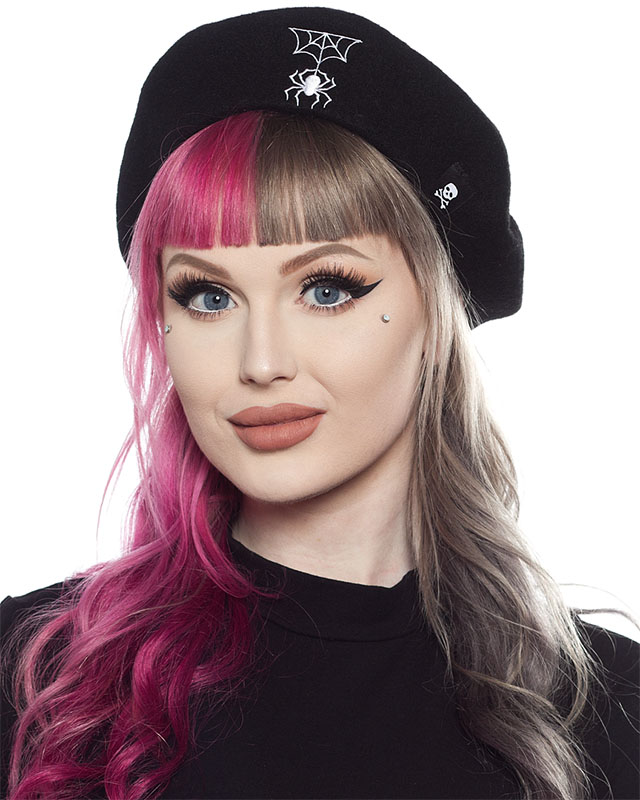 988cfeae Spider & Web Beret by Sourpuss Clothing - SALE last one