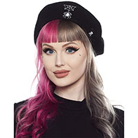 Spider & Web Beret by Sourpuss Clothing - SALE last one