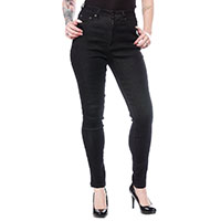 5 Pocket High Waisted Girls Stretch Jeans by Sourpuss -Black