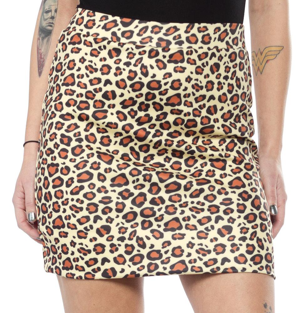 Scuba Mini Skirt by Sourpuss -in Leopard - SALE
