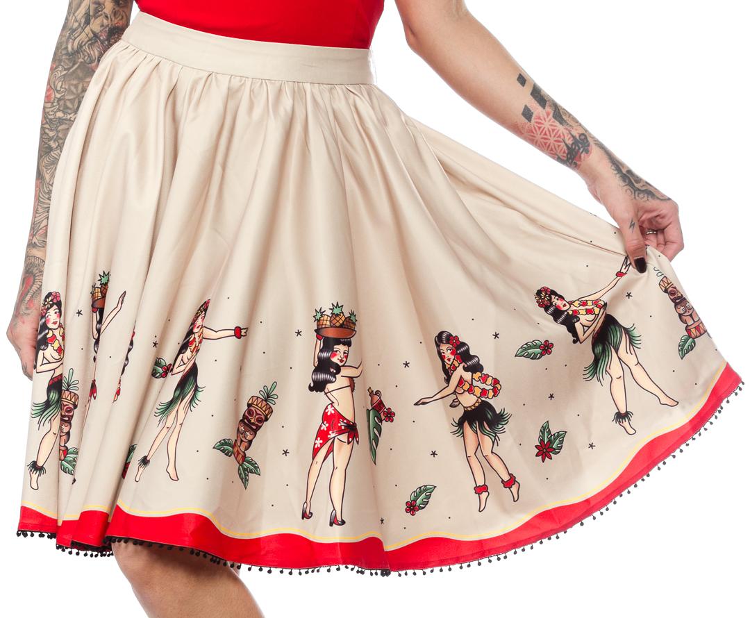 Hula Girls Sweets Skirt by Sourpuss - SALE