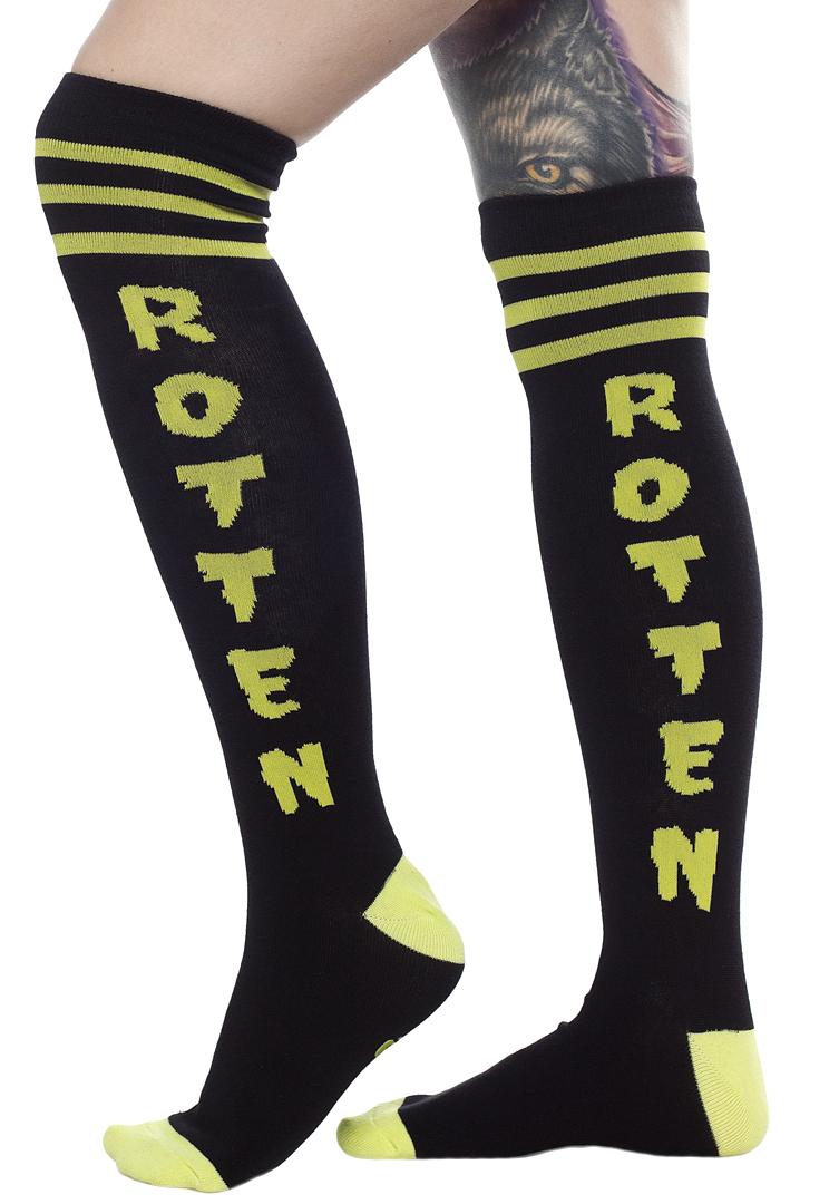 Over The Knee Girls Socks by Sourpuss- Rotten