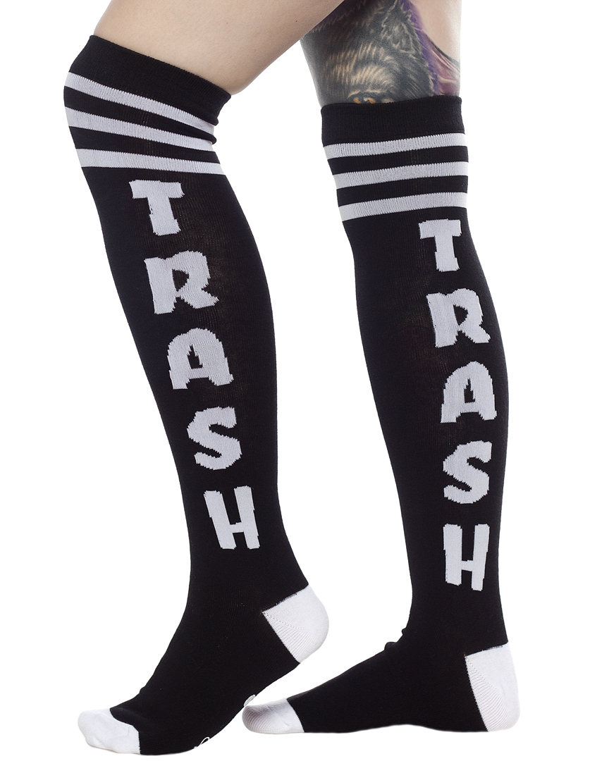 Over The Knee Girls Socks by Sourpuss- Trash