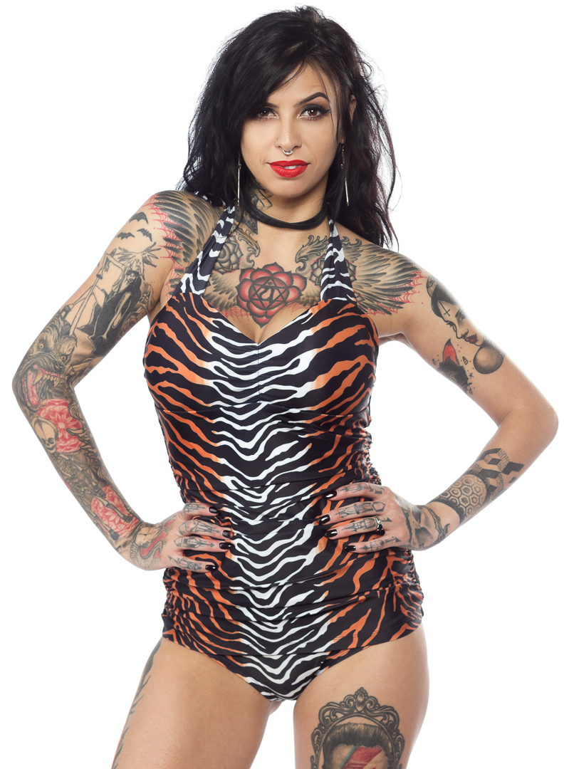 Jungle Princess One Piece Swimsuit from Sourpuss Clothing - SALE sz S only