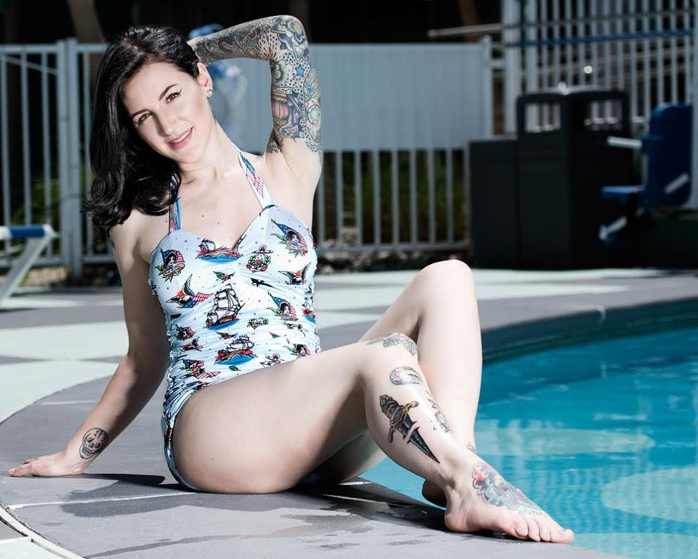 Sailor One Piece Swimsuit from Sourpuss Clothing - SALE