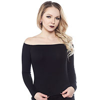 Off The Shoulder Top in Black by Sourpuss - SALE