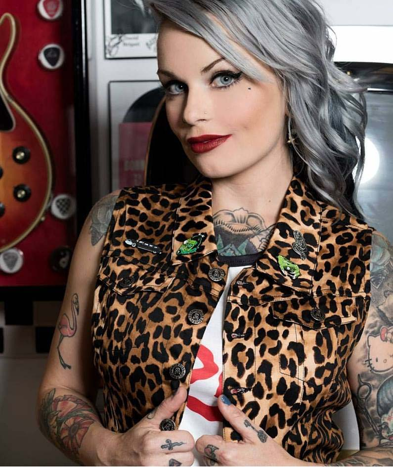 Essential Leopard Gal's Vest - by Sourpuss