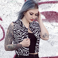 Essential Gal's Vest - by Sourpuss - White Zebra