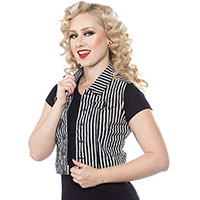 Essential Striped Gal's Vest - by Sourpuss - SALE