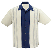 The Harper Retro Mod Bowling Shirt by Steady Clothing