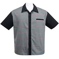 Bad New Felix Button Up Bowling Shirt by Steady Clothing - Black