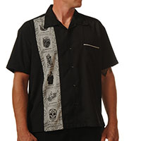 El Lottery Button Up Loteria Shirt by Steady - SALE