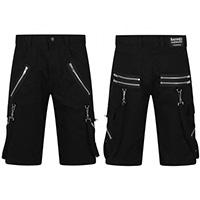 Black Cotton Bondage Mercury Shorts by Banned Apparel