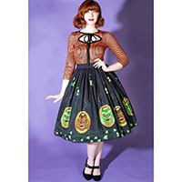 Swamp Creature Tiki Mug Gathered Skirt by The Oblong Box Shop