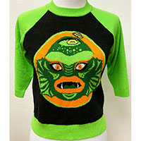 Swamp Creature Tiki Mug Sweater by The Oblong Box Shop