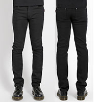 Trash And Vaudeville 5 Pocket Stretch Jeans in BLACK by Tripp NYC