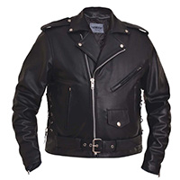 Premium Buffalo Motorcycle Jacket With Side Laces by Unik Leather