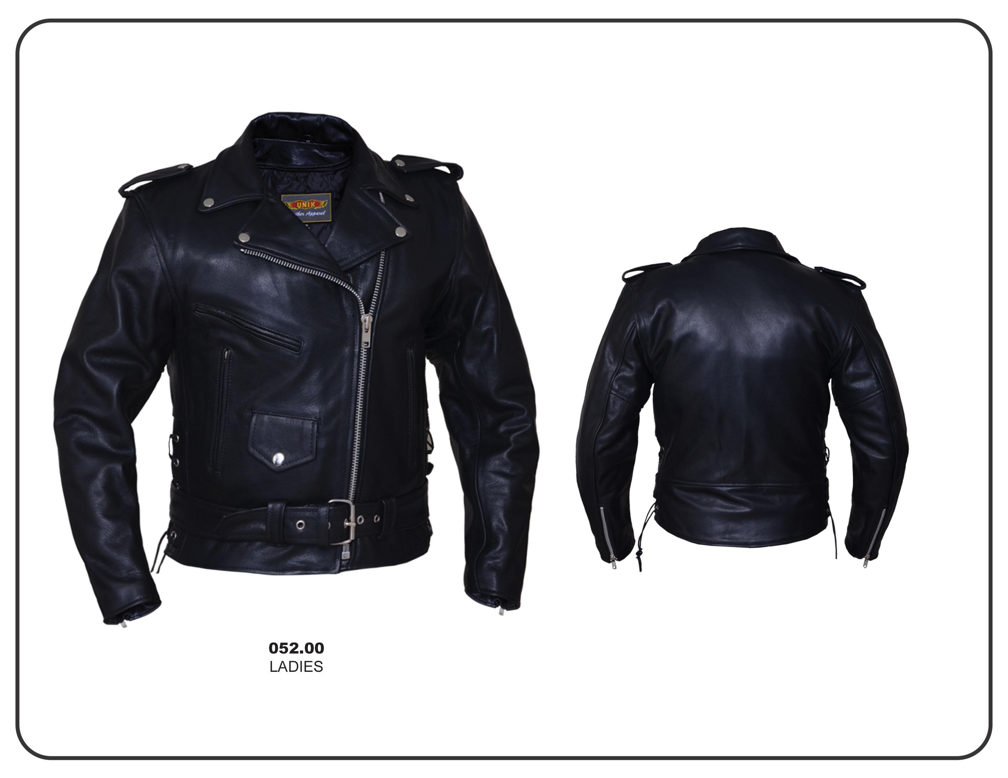 Leather jacket with roses - Premium Buffalo Womens Motorcycle Jacket By Unik Leather