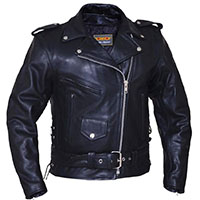 Premium Womens Motorcycle Jacket With Side Lace by Unik Leather