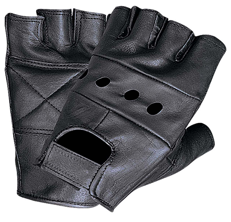 Fingerless Leather Gloves by Unik Leather (3 Colors) (Sale Price!)