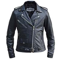 Derringer Lambskin Womens Motorcycle Jacket