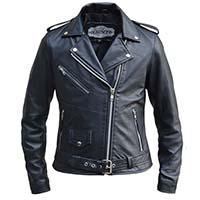Derringer Lambskin Womens Motorcycle Jacket