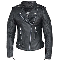 Derringer Lambskin Womens Premium Friction Motorcycle Jacket