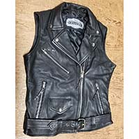 Derringer Lambskin Womens Motorcycle Vest With Removable Hoodie
