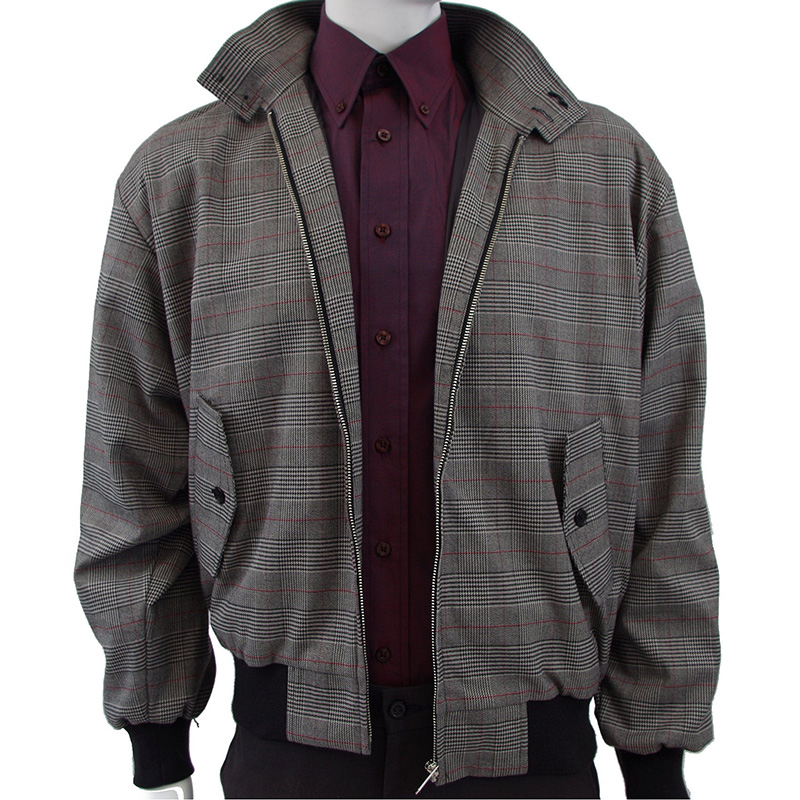 Harrington Jacket by Warrior Clothing- PRINCE OF WALES CHECK - sz M & XL only left in stock