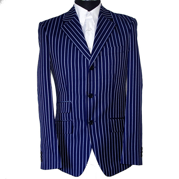 Mod 3 Button Boating Blazer by Warrior Clothing- Navy