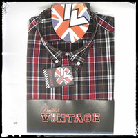 Vintage Button Down Shirt by Warrior Clothing- BUSTER