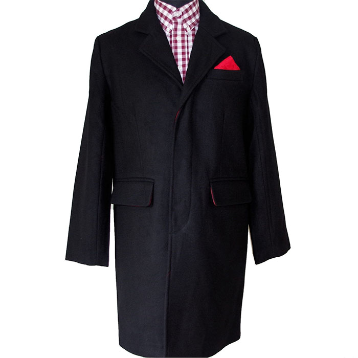 Midweight 3/4 Wool Overcoat Crombie Style by Warrior Clothing