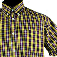 Vintage Button Down Shirt by Warrior Clothing- DOUBLE BARREL