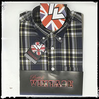 Vintage Button Down Shirt by Warrior Clothing- LIP UP