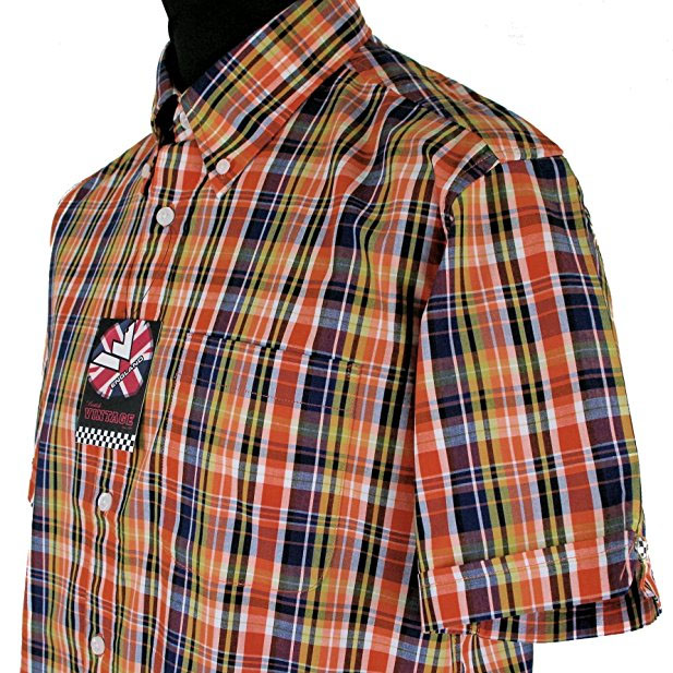 Vintage Button Down Shirt by Warrior Clothing- Reed