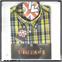 Vintage Button Down Shirt by Warrior Clothing- STRUMMER - sz M only