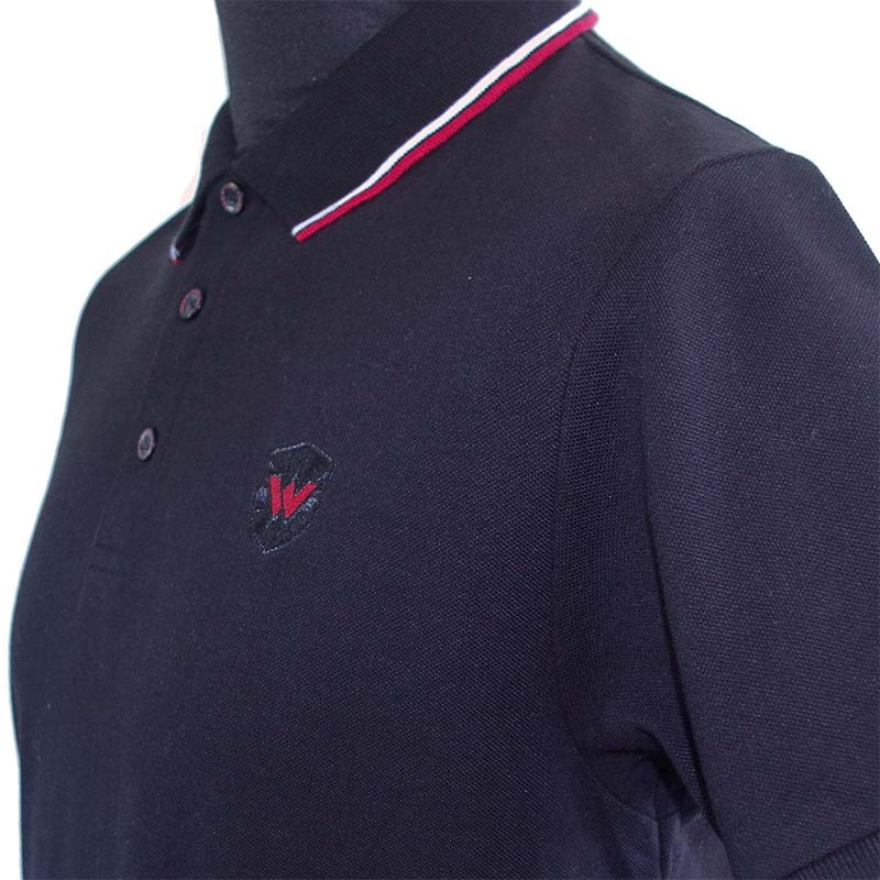 Twin Tipped Polo Shirt by Warrior Clothing- Black/Red