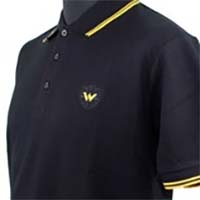 Twin Tipped Polo Shirt by Warrior Clothing- Black/Yellow