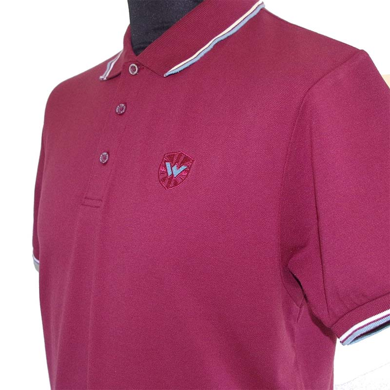 Twin Tipped Polo Shirt by Warrior Clothing- Burgundy