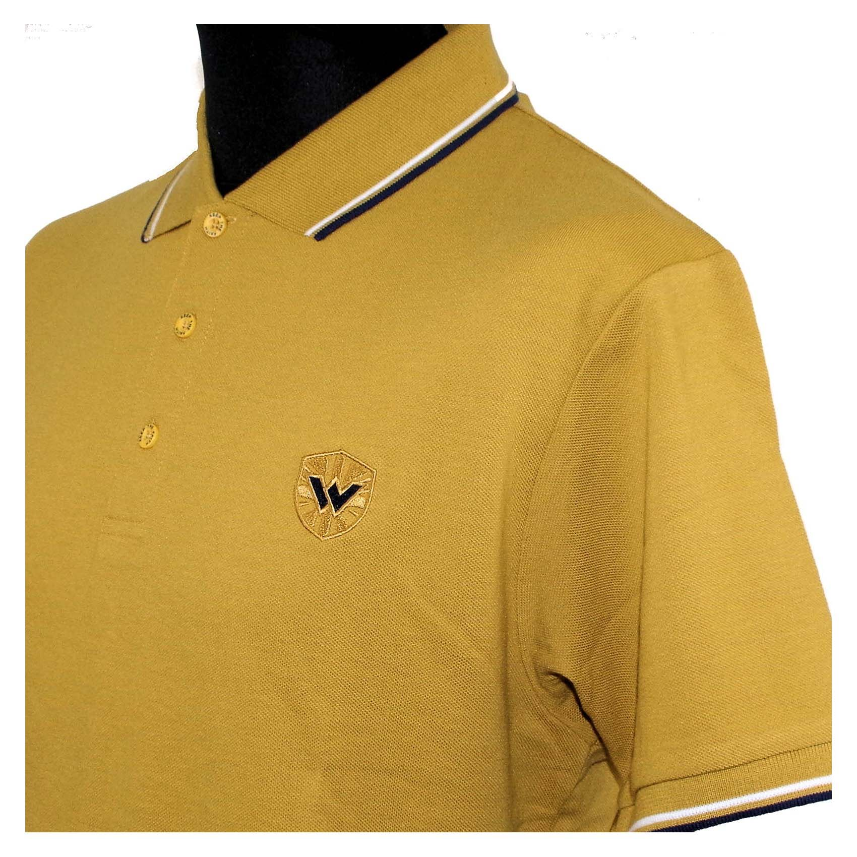 Twin Tipped Polo Shirt by Warrior Clothing- Mustard