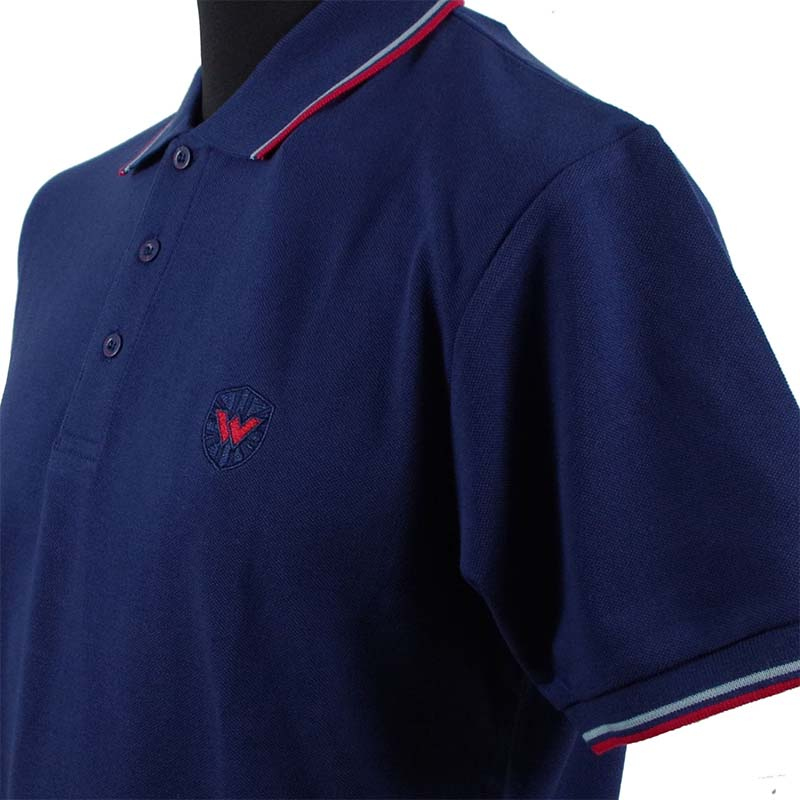 Twin Tipped Polo Shirt by Warrior Clothing- Navy/Red