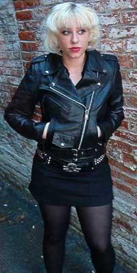 Girls Biker Jacket Black Leather Buffalo Or Cowhide