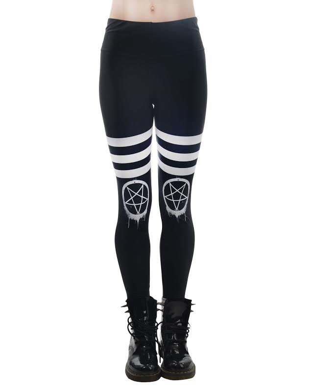 Drippy Pentagram - Addicted Leggings by Too Fast Clothing/Rat Baby